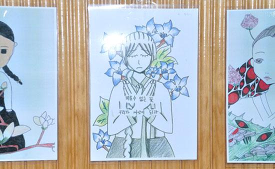 퇴촌남종 청소년 영화제에 전시된 학생들의 작품