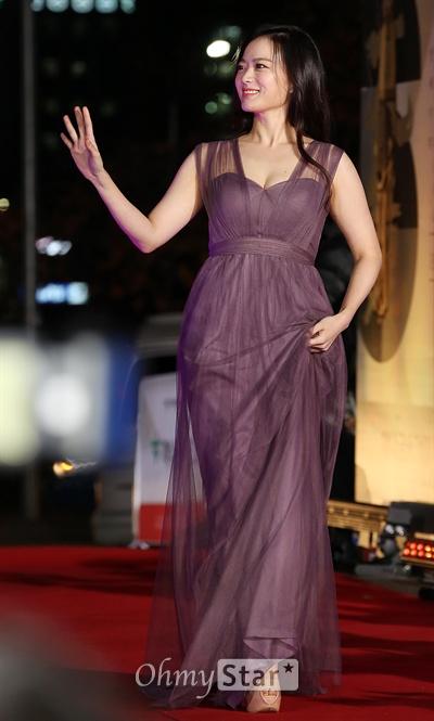 지난 21일 열린 제51회 대종상 영화제에 참석한 배우 천우희