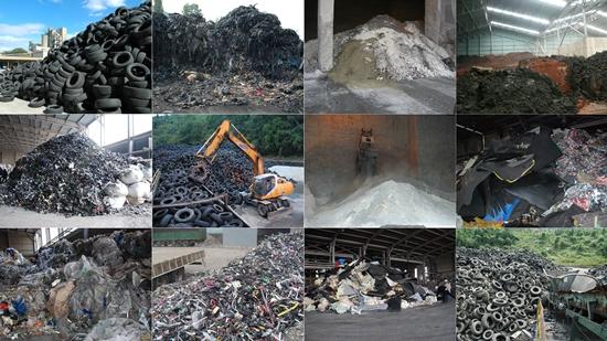 시멘트 공장에 가득 쌓인 각종 쓰레기. 이곳이 쓰레기 소각장인지, 시멘트 제품을 만드는 공장인지 헷갈릴 정도입니다.