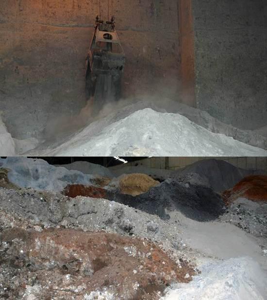 OO시멘트 공장에서 소각재, 슬래그, 하수슬러지 등 온갖 쓰레기를 혼합하여 시멘트를 만드는 모습입니다. 그날 어떤 쓰레기가 더 많이 들어갔느냐에 따라 시멘트 제품에 발암물질과 유해 중금속이 함량이 달라집니다.