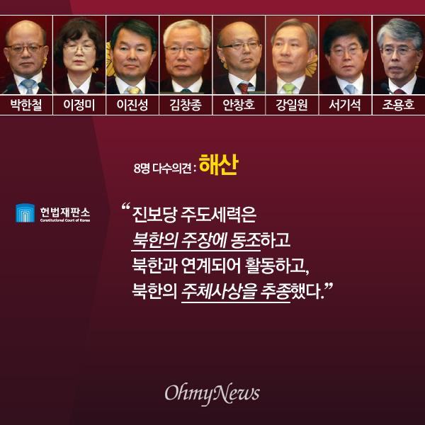 '진보당 해산' 헌법재판소 다수·소수의견 주요 내용01