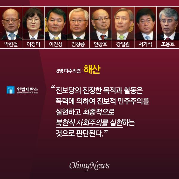 '진보당 해산' 헌법재판소 다수·소수의견 주요 내용03