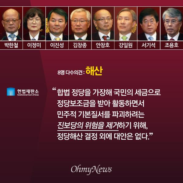 '진보당 해산' 헌법재판소 다수·소수의견 주요 내용04