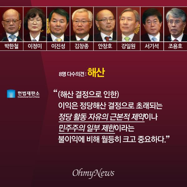 '진보당 해산' 헌법재판소 다수·소수의견 주요 내용05