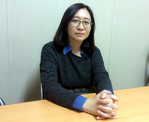 민주언론시민연합의 김언경 사무처장