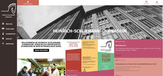 앙겔라 메르켈 독일 총리가 수업했던 학교로 유명한 하인리히 슐리만 김나지움(Heinrich-Schliemann-Gymnasium)의 홈페이지에서는 다양한 학교 행사들과 수업내용들을 볼 수 있다.