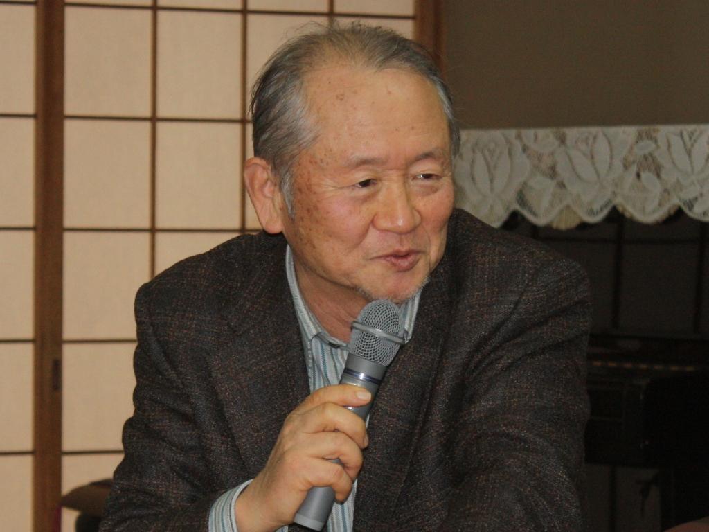 """유오카 카즈요시 대표 유오카 카즈요시 대표는 """"이 원고인단 분들 중에는 한국어를 아는 분이 있다.""""라며 학생들에게 주의를 당부했다. 피해주민들 중 1/3 이상이 제일교포들이다."""