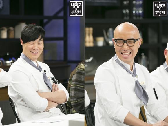 JTBC <냉장고를 부탁해>에 출연하는 최현석 셰프(왼쪽)과 방송인 홍석천