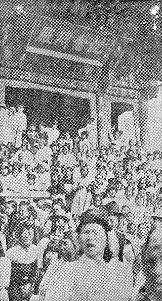 3·1 운동 당시의 만세 시위.