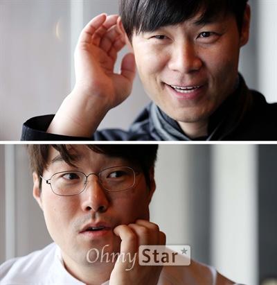 올리브쇼의 허세 최현석 셰프(왼쪽)와 재벌 오세득 셰프가 10일 오후 서울 신사동 엘본더테이블 신사점에서 오마이스타와 인터뷰를 하고 있다.