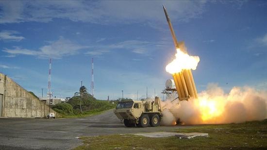 사드 고고도 방어 미사일 시험 발사 장면(2013.9.10.)