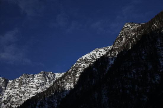 오스트리아에서 부터 블레드까지 계속 이어지는 줄리안 알프스줄기