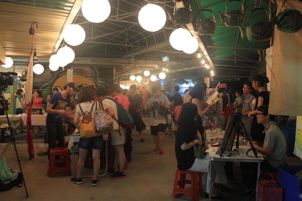 2014년 전주 남부시장에서 열린 야시장