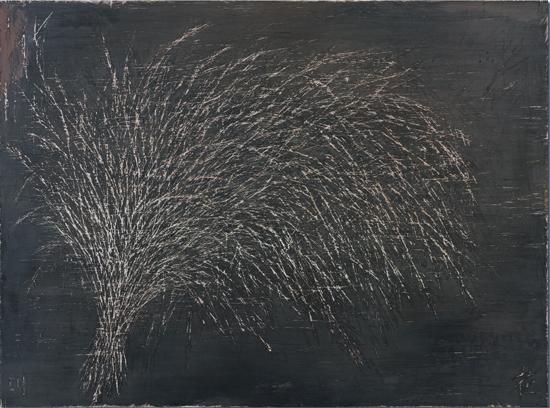 마른풀 합판위에아크릴릭,커터칼조각.130x97cm_2014