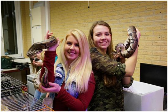 야생 동물 관찰 수업에서 찍은 사진. 왼쪽이 안느