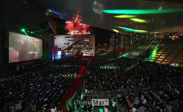2014년 19회 부산국제영화제 개막식 모습