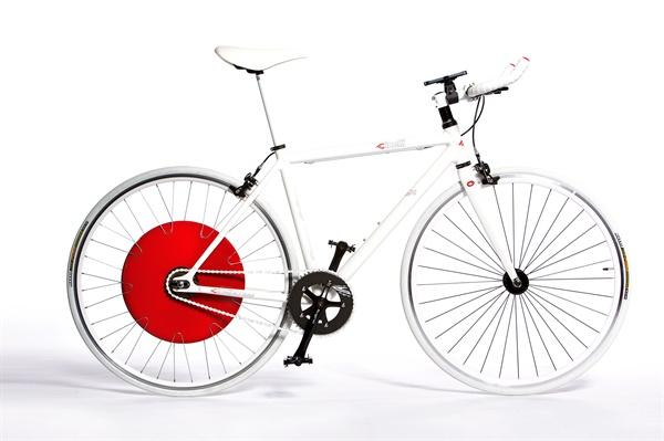MIT에서 개발한 올인원 전기 자전거 바퀴인 '코펜하겐 휠'(뒷바퀴)