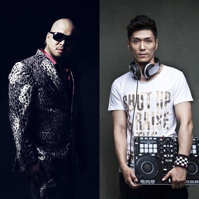 2인조 DJ 유닛을 결성한 돈스파이크(왼쪽)와 DJ 한민