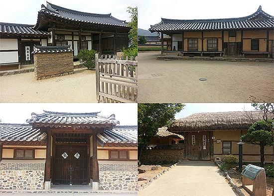 하회마을의 옛집들