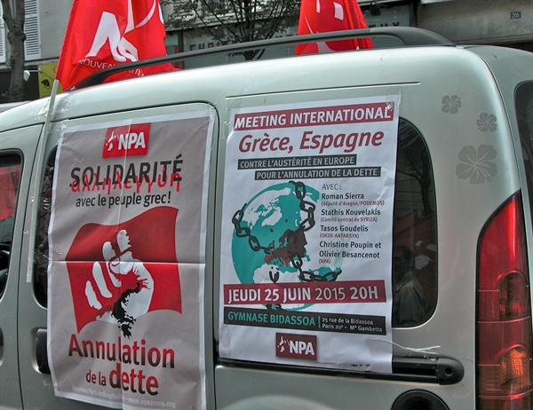 NPA(반자본주의신당) 그리스 민중과 연대를. 부채를 취소하라.