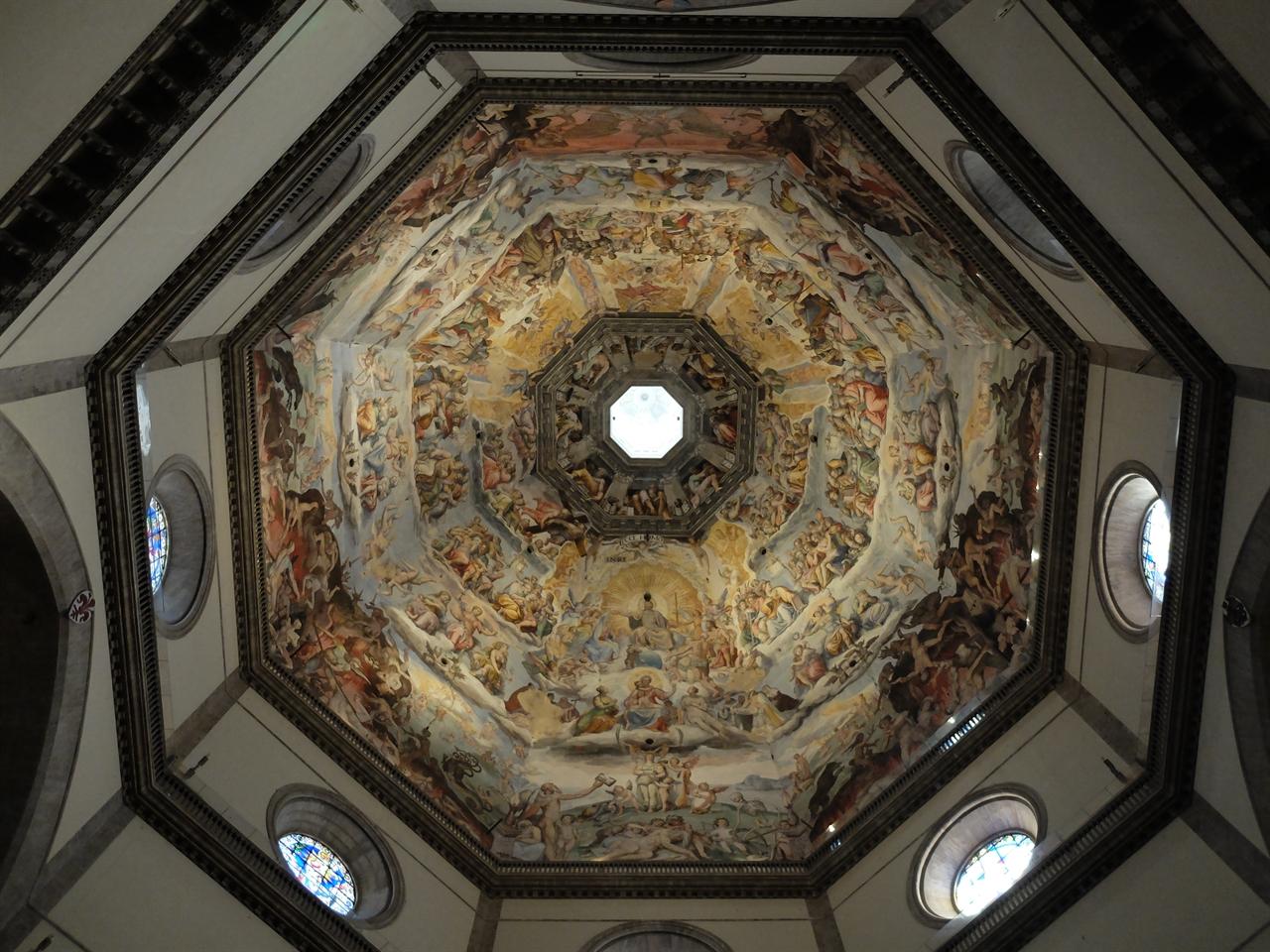 최후의 심판 2 조르조 바사리 '최후의 심판' 피렌체, 산타 마리아 델 피오레 성당. 쿠폴라 내부 천장화.