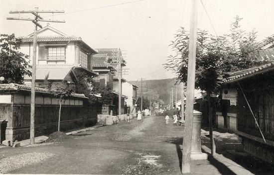 일제강점기 군산의 명산동 거리 모습(1930년대)