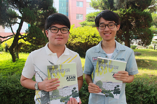 동아리 의견 조율과 보고서 제작에 참여한 자율동아리 연합회 회장 강동역 학생(오른쪽)과 길남규 학생.