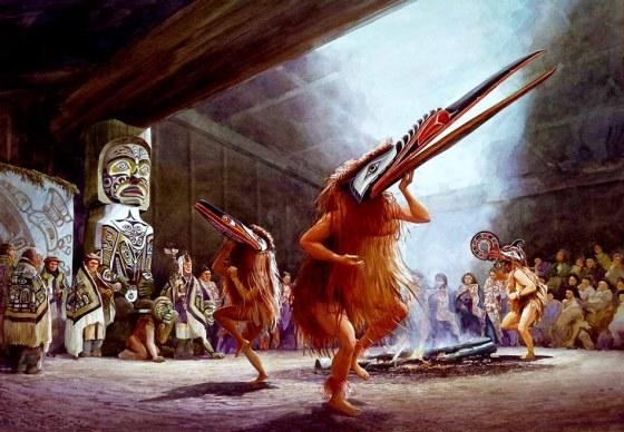 콰키우틀족의 포틀래치 댄스 북아메리카 서해안 인디언들 사이에서 부유한 사람들이 베푸는 축제다. 시기가 따로 정해져 있는 것이 아니라, 경조사 등을 구실로 수시로 행한다. '포틀래치(Potlatch)'는 치누크족 말로 '소비하다', '주다' , '베풀다' 등을 의미한다. 이를 행하는 대표적 부족들로 콰키우틀, 치누크, 하이다, 누트카, 유픽 등이 있다.