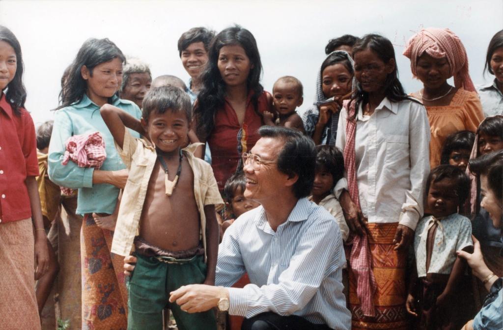 태국국경 캄보디아 난민캠프에서 자원봉사활동하던 당시 모습.