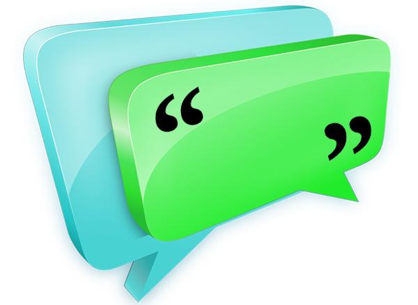 큰따옴표는 언제 쓸까? 국립국어원 한글 맞춤법에 따르면 직접 대화를 표시하거나 말이나 글을 직접 인용할 때 쓴다.