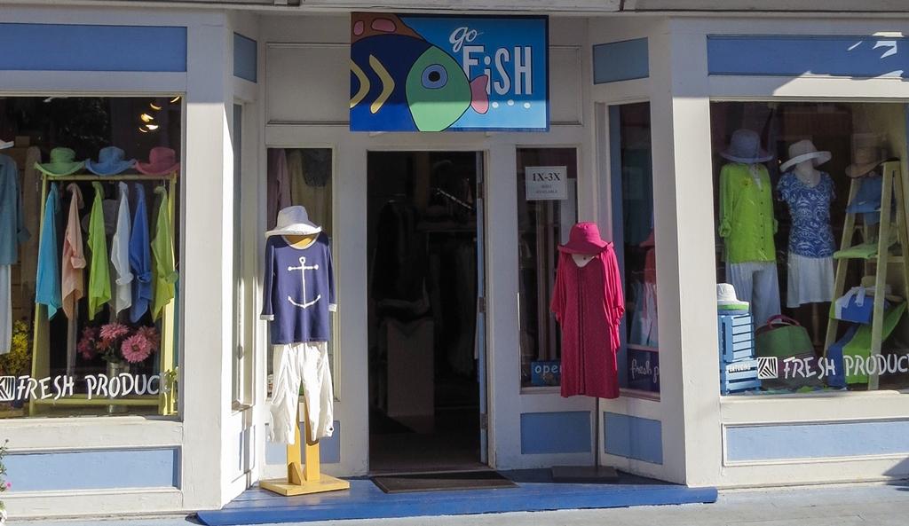 상업거리의 옷가게