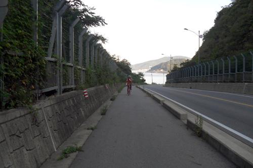 내리막길은 자전거 탈 때 신이 난다. 조심해야 한다.