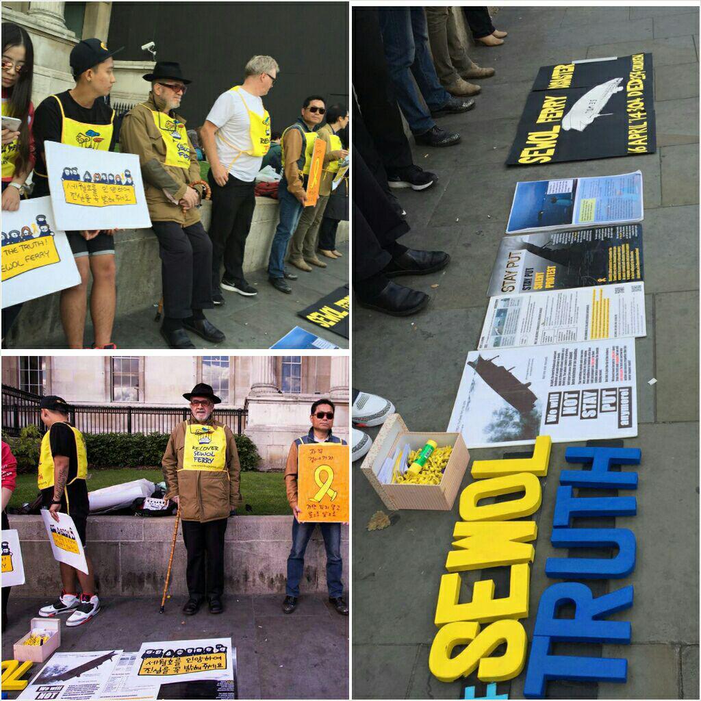 영국 런던에서 열린 세월호 집회 '17차 세월호 가만히 있으라 침묵시위'에는 한옥을 사랑하는 David Kilburn씨도 참여했다.