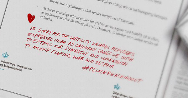 덴마크인들이 레바논 4대 일간지에 낸 광고
