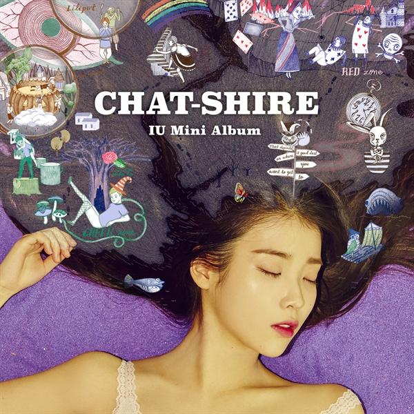 아이유의 4번째 미니앨범 < CHAT-SHIRE >의 재킷