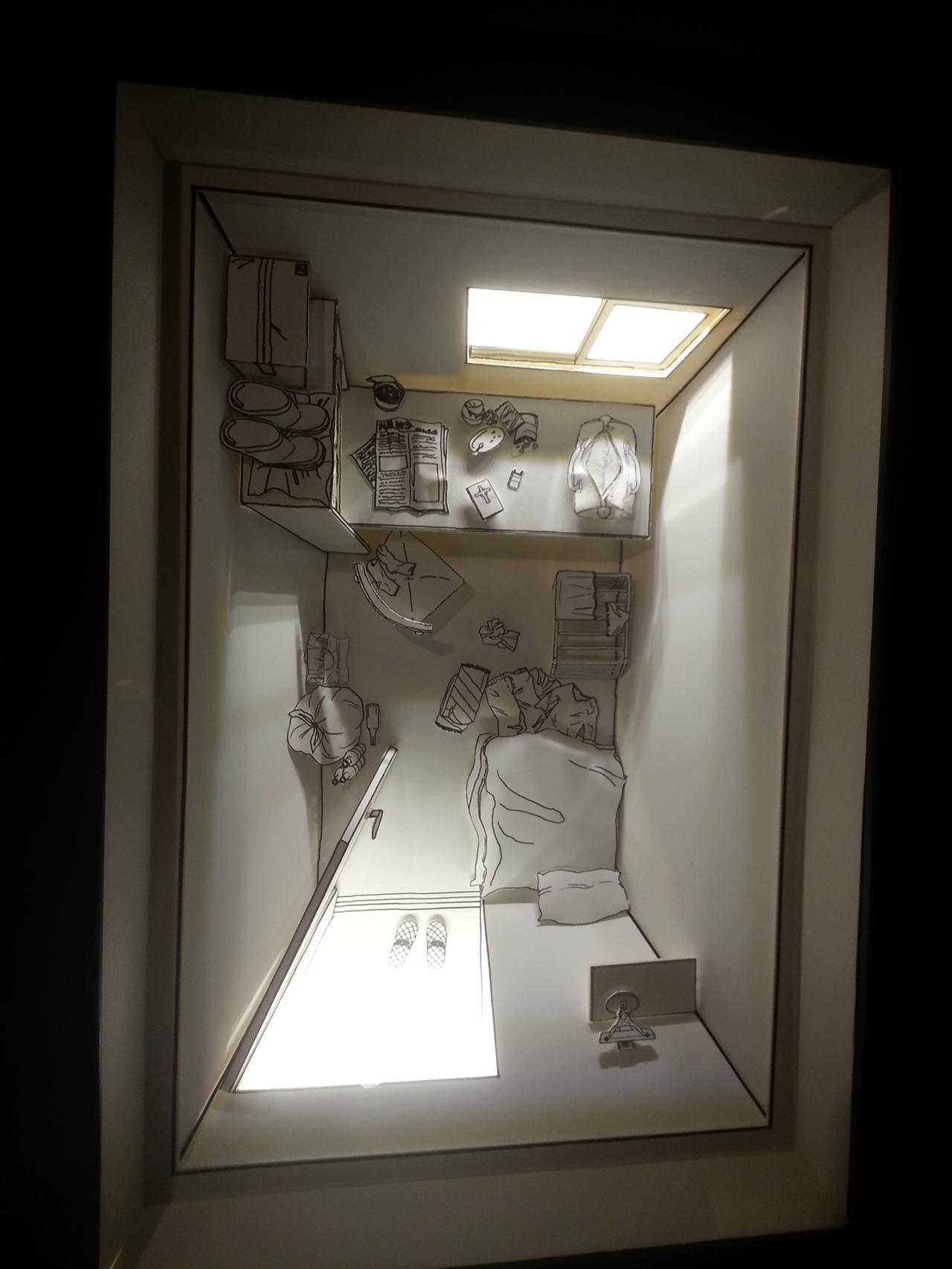 고시원 방 모형 전시물