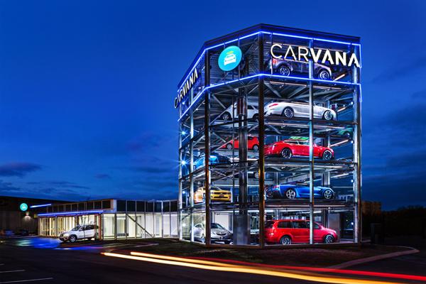 미국 테네시주 내슈빌에 있는 카바나의 자동차 판매기