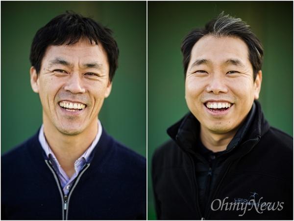 최근 드라마로 제작된 만화<송곳>의 실제 모델이 되었던 이종명 부천비정규직센터장(왼쪽), 김재광 노무사.