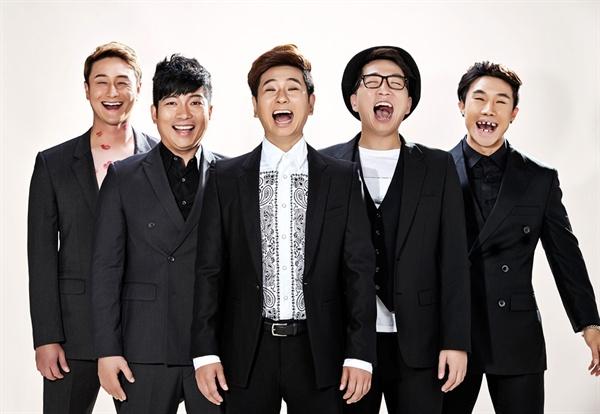 KBS 2TV <개그콘서트> 출신 5인방이 뭉쳐 만든 개그팀 '쇼그맨'. (왼쪽부터 김원효, 김재욱, 박성호, 정범균, 이종훈)