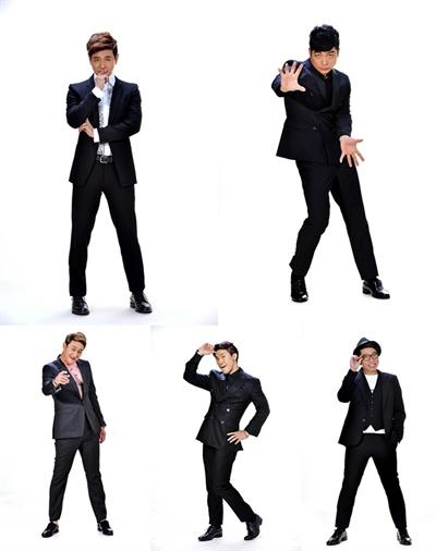 KBS 2TV <개그콘서트> 출신 5인방이 뭉쳐 만든 개그팀 '쇼그맨'. (왼쪽 상단부터 시계 방향으로 박성호, 김재욱, 정범균, 이종훈, 김원효)