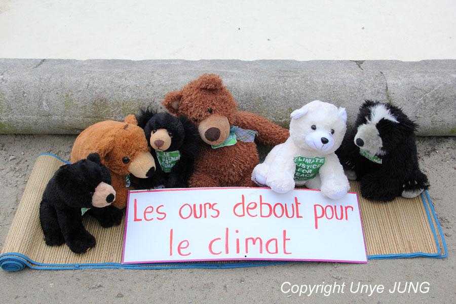 '곰들이 기후를 위해서 들고 일어났다'