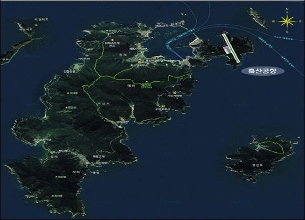 흑산도 공항 건립이 본격적으로 추진된다. 흑산도 공항이 개항하면 제주도 외에 도서지역에 들어서는 첫 공항이자, 최초의 소형공항이라는 기록을 갖게 된다.