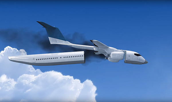 사고시 객실이 분리되는 비행기 콘셉트 디자인