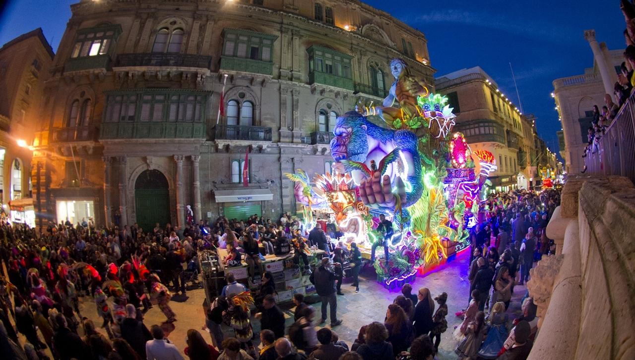 매년 2월에 열리는 몰타 카니발의 전경 (사진제공=몰타관광청)