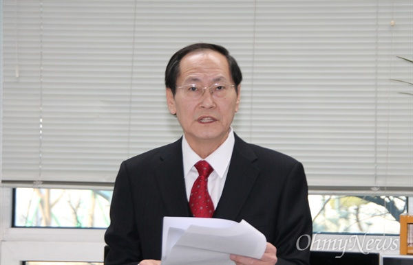 국민의당 소속으로 대전 대덕구에서 총선 출마를 선언한 김창수 전 국회의원.