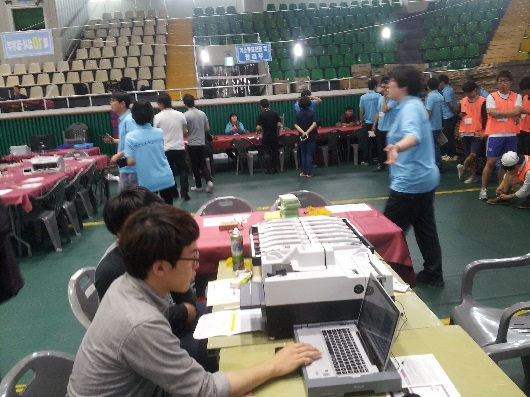투표지분류기운영부 6.4지방선거 개표 당시 여수의 한 투표지분류기운영부