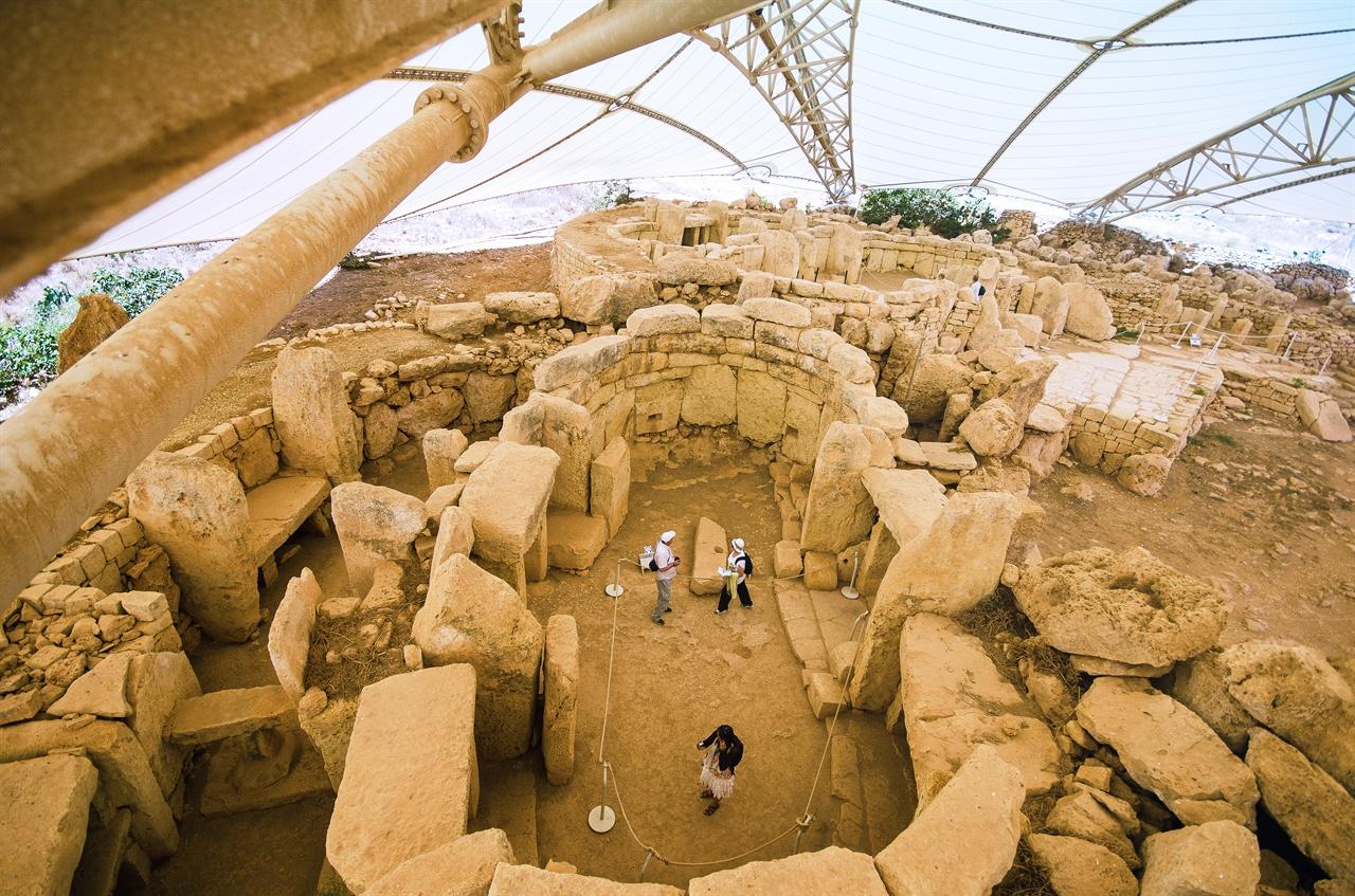 클렌디(Qrendi)지역에 위치한 하자르 임(Hagar Qim) 신전의 모습.  (사진제공=몰타관광청)