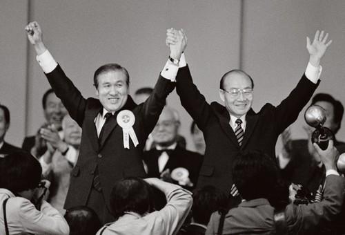 1987년 6월 10일. 노태우 민주정의당 총재 취임.