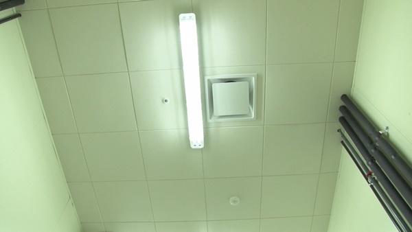 활어보관장 내부 천장 환풍기 (사진 : 칼라TV)