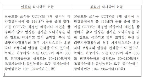 김석기 후보 표절(2)